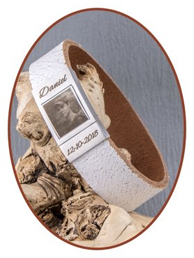 JB Memorials Stainless Steel Leather Special Photo Cremation Ash Bracelet - ZAS016F