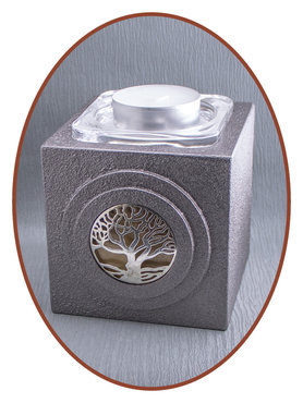 Midi Ash Urn 'Tree of Life' with Glass Plate - HM316