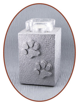 Mini Ash Urn with Tealight Holder 'Paw Print'  - HM287D
