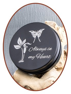 Aluminium Cremation Ash-remembrance-box Black - AL004