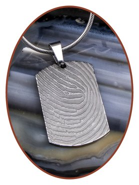 Stainless Steel Fingerprint Remembrance Pendant - VI002