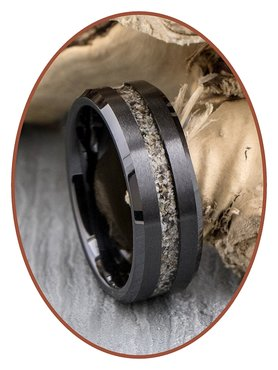 JB Memorials Ceramic Zirconium Special Men Cremation Ring - RB048B