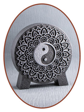 Mini Ash Urn 'Mandala Yin Yang' in Different Colors - HM427A