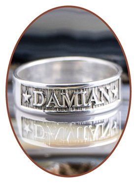 JB Memorials 925 Sterling Silver Name Remembrance Ring - RB067N