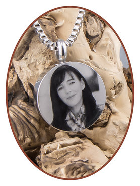 Stainless Steel Photo Cremation Pendant - B420