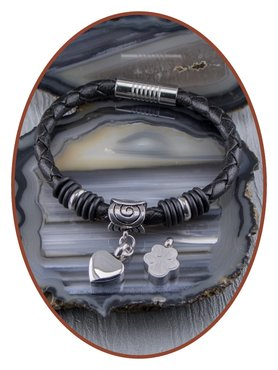 Leather Ladies Cremation Ash Bracelet  - ZMA244