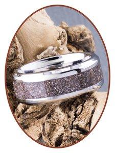 JB Memorials Edelstalen As Ring 'Violet Touch' - CRA017