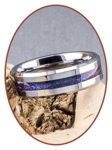 JB Memorials Tungsten Carbide 6mm Chroma Colored Ladies Cremation Ring - RB048CHR