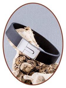 JB Memorials Stainless Steel Leather Ash Bracelet - ZAS008