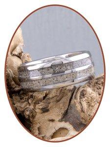 JB Memorials Exclusive Tungsten Ring met Dubbele Asverwerking - WR004DUO