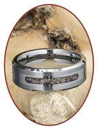 JB Memorials Tungsten Carbide Heren As Ring