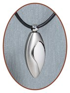 Titanium JB Memorials Premium 'Traan' Design Ashanger - T003