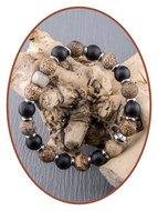 JB Memorials Frosted Agaat - Textured As Armband - KHA019